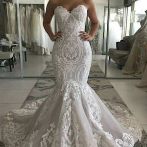 Sweetheart Neckline Mermaid Wedding Dress